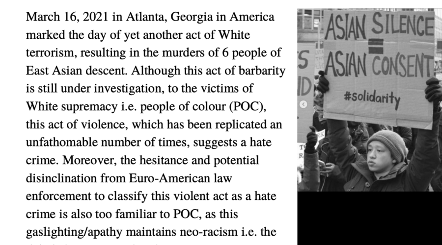 COVID 19 and the Victims of White Supremacy