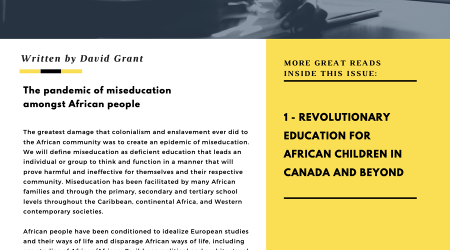 The Miseducation of African People