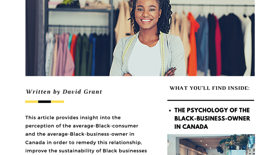 The Perception of the Black Business Owner and Black Consumer